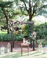 Miami Beach Botanical Garden ceremony setup