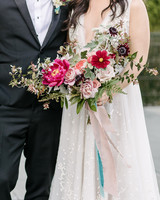 stephanie tim wedding bridal bouquet