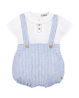 """Pili Carrera """"Ticking"""" Striped Suspender Trousers with Blouse"""
