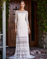 tadashi shoji wedding dress fall 2018 off the shoulder lace