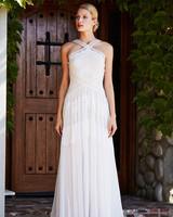 tadashi shoji wedding dress fall 2018 halter lace