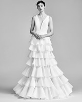 Viktor&Rolf Wedding Dress with V-Neck Spring 2018