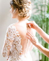wedding dresses with buttons sheer back