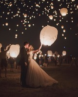 wedding exits lanterns