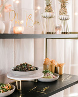 wedding food bars anna delores photography