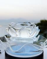 wedding ice sculpture rose