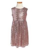 pink metallic dress