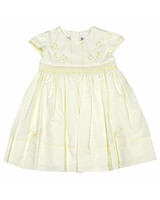 pale yellow flower girl dress