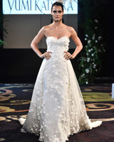yumi katsura fall 2018 lace strapless wedding dress