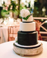 abbey jeffrey wedding bouquet black white cake