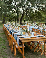 Long Farm Reception Tables with DIY Placemats