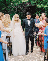 amanda alex wedding couple recessional