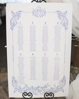 wedding chart seating