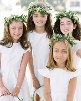 ashlie adam alpert wedding flower girls