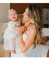 Audrina Patridge and Daughter Kirra at Wedding