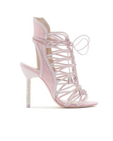 pink bridal booties sophia webster lacey cyrstal