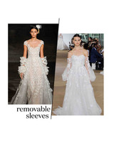 fall 2019 bridal fashion week trends removable sleeves