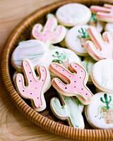 wedding cactus cookies