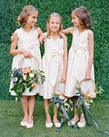 carey jared wedding flower girls