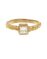 Cathy Waterman Princess-Cut Engagement Ring