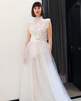 costarellos high neck tulle wedding dress spring 2018