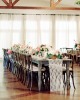 Rustic and Feminine Long Reception Tables