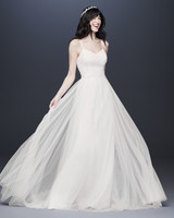 tulle spaghetti strap wedding dress davids bridal galina Spring 2020