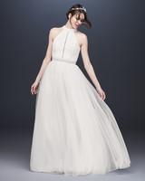 halter tulle skirt wedding dress davids bridal galina Spring 2020