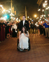 elizabeth seth wedding sparkler send off