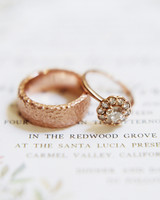 engagement rings vintage gold with diamond flower shape