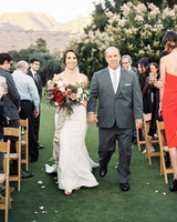 father of the bride wearing an all gray suit