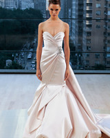 ines di santo wedding dress fall 2018 peach mermaid sweetheart