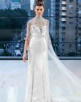 ines di santo wedding dress fall 2018 high neck beaded overlay
