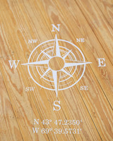 Compass Rose Dance Floor Decal