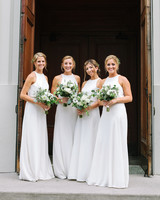 kate austin wedding bridesmaids doorway