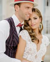 lara kjell circus party couple pose