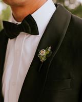 leah michael wedding glass boutonniere