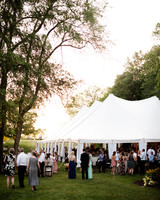 reception guests tent