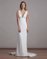Liancarlo V Neck Wedding Dress