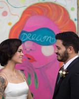 Lilly and Chris NYC Wedding, Bride and Groom Portrait