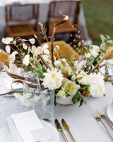 linda robert wedding centerpiece