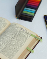 dictionary wedding guest book
