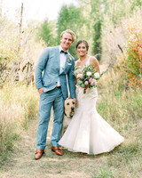 margaux patrick wedding couple with dog