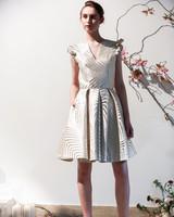 Mason Hosker short dress silver detail wedding dress spring 2018