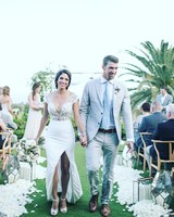 Michael Phelps and Nicole Johnson Walking Down the Aisle