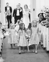 natalie jamey wedding ceremony flower girls