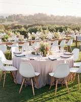 natasha nick wedding california tables