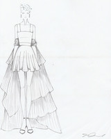 odylyne the ceremony wedding dress sketch