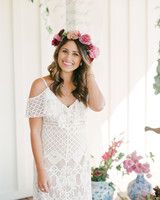 pink bridal shower flower crown