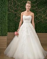 rebecca ingram strapless sweetheart wedding dress fall 2018